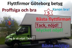 Flyttfirmor betyg Göteborg för bra flyttfirmor